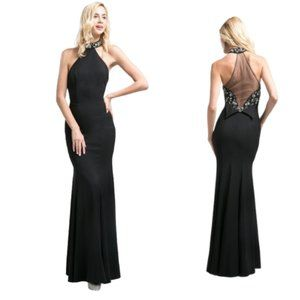 Size 14 Halter Mermaid Dress - New with Tags